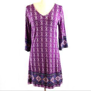 Stitch Fix Skies Are Blue Purple Tribal Dress